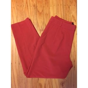 Tapered Red ankle pants